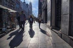 Folk på gatan Arkivbild