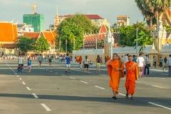 Folk på gatan av det asiatiska landet - Vietnam och Cambodja Arkivfoton