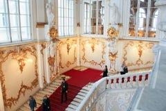 Folk på Jordan Staircase Hermitage Arkivbild
