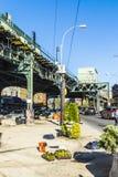 Folk på korsningen på avenyn för Av för lotter för tunnelbanastation den nya i ea Royaltyfri Foto