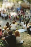 Folk på parkera Arkivfoto