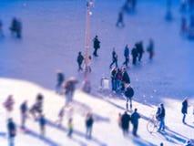 Folk på rusningstiden Royaltyfri Foto