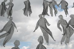 Folk på skyen Arkivbilder