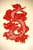 Folk paper-cutting on the wall. Of a public park in Beijing, China Stock Images
