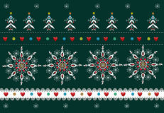 Folk Pattern Christmas Background Stock Photos