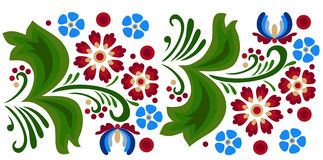 Folk-pattern2. Floral pattern with abstract scandinavian flowers - pattern based on traditional folk ornaments. Seamless background. Vector illustration vector illustration