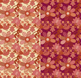 Folk pattern with flower and birds. Vector folk style pattern with birds Stock Image
