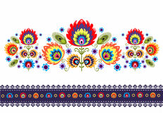 Folk Pattern With Flowers royalty free illustration
