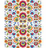 Folk Pattern With Flowers Three Stock Photography