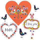 Folk Pattern Mothers Day Stock Photo