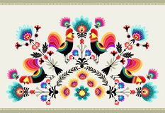 Folk pattern stock illustration