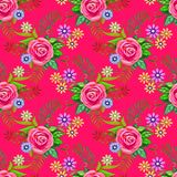 Folk pattern for Ukraine. Drawing by pastel, bright endless vector illustration