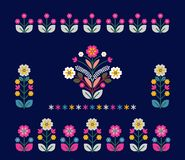 Retro, traditional floral ornament inspired by Ukrainian and Pol Stock Image