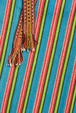 Folk patterns. Patch of Estonian national cloth with pattern (with belt) inherited to the Otep�� county. All in focus. Diagonal composition Royalty Free Stock Photography