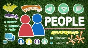 Folk Person Group Citizen Community Concept Arkivbild