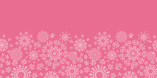 Folk pink floral circles texture abstract Stock Images