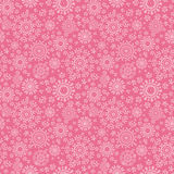 Folk pink floral circles texture abstract seamless Stock Photos