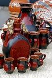 Folk pottery 1 royalty free stock photography