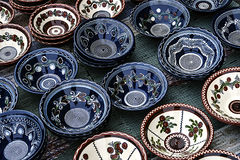 Folk pottery 4 Stock Photos