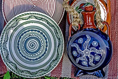 Folk pottery 11 Stock Image