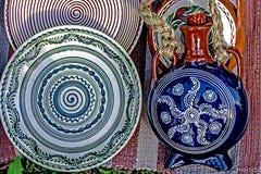Folk pottery 11 Stock Image
