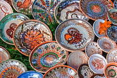 Folk pottery 15 royalty free stock photo
