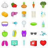 Folk remedies icons set, cartoon style. Folk remedies icons set. Cartoon set of 25 folk remedies vector icons for web isolated on white background Royalty Free Stock Photo