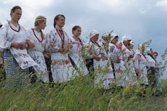Folk ritual in the Republic of Belarus Royalty Free Stock Image
