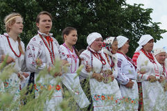 Folk ritual in the Republic of Belarus Royalty Free Stock Photo