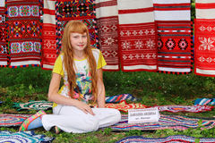 Folk rituals yield improvements in the Gomel region of the Republic of Belarus in 2015. Dressed in traditional costumes, the villagers, including women and Stock Images