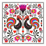 Folk roosters Royalty Free Stock Photo