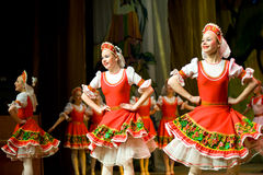 Folk Russian dance Royalty Free Stock Images