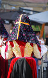Folk of Sardinia. View of a particolar of clothes of Sardinia's folk Royalty Free Stock Photos