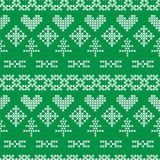 Folk seamless pattern on green background Stock Photography