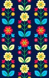 Retro, traditional floral ornament inspired by Ukrainian and Pol Royalty Free Stock Images