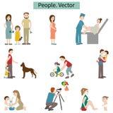 folk set vektor för elementillustration Arkivfoton