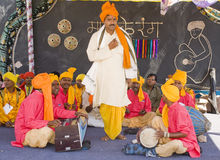 Folk Singers. Dolk Singers Preforming at acultyural fest held in Panchkula, Haryana, India.The shot was taken on April 15, 2012 Stock Images