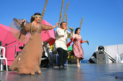 Folk singers Stock Images