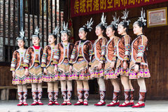 Folk singers in Culture Show in Chengyang village Royalty Free Stock Photos