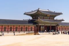 folk slott för national för gyeongbokgungkorea museum Arkivfoto