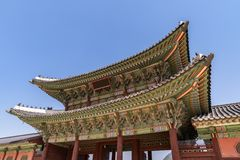 folk slott för national för gyeongbokgungkorea museum Royaltyfria Foton