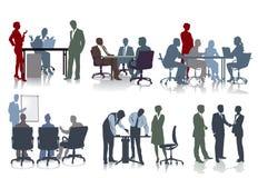 Folk som arbetar i kontor royaltyfri illustrationer