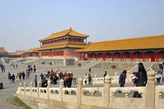 Folk som besöker Forbidden City Arkivbilder