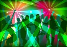 Folk som dansar på ett parti fotografering för bildbyråer
