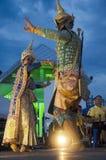 Folk som dansar suverän thai thai stil för maskerings- eller Khon dansdrama Fotografering för Bildbyråer