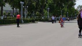 Folk som går i en parkera lager videofilmer