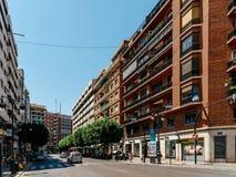 Folk som går i stadens centrum Valencia City In Spain Fotografering för Bildbyråer