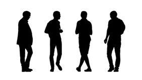Folk som går utomhus- konturuppsättning 28 royaltyfri illustrationer