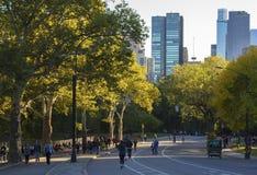 Folk som joggar i Central Park royaltyfri bild