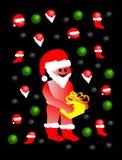 Folk som kläs som Santa Claus Vektor Illustrationer